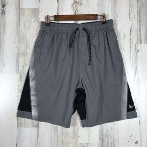 Nike | Grey&Black Athletic Shorts Large